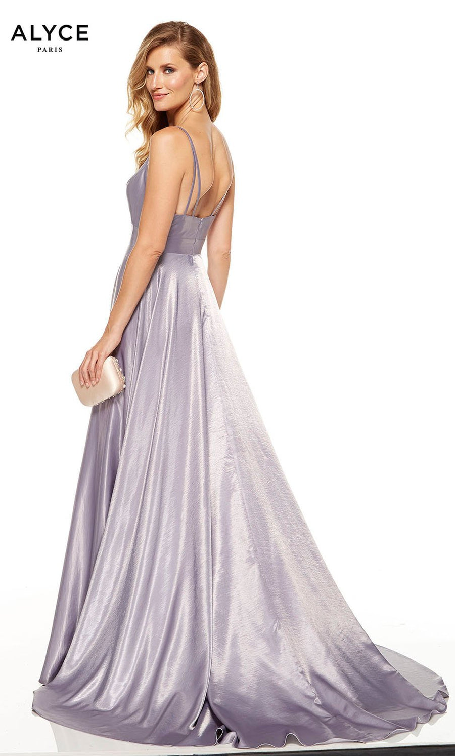 Alyce Paris 60624 prom dress images.  Alyce Paris 60624 is available in these colors: Antique Rose, Pine, Deep French Blue, Lilac Grey, Eggplant, Midnight, Sage Green, Sea Glass.