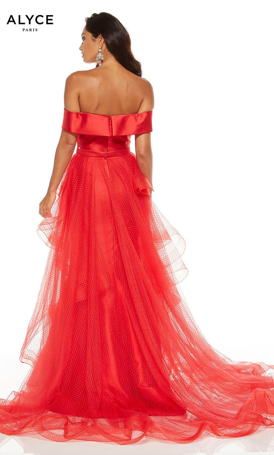 Alyce Paris 60663 prom dress images.  Alyce Paris 60663 is available in these colors: Diamond White, Black, Red.