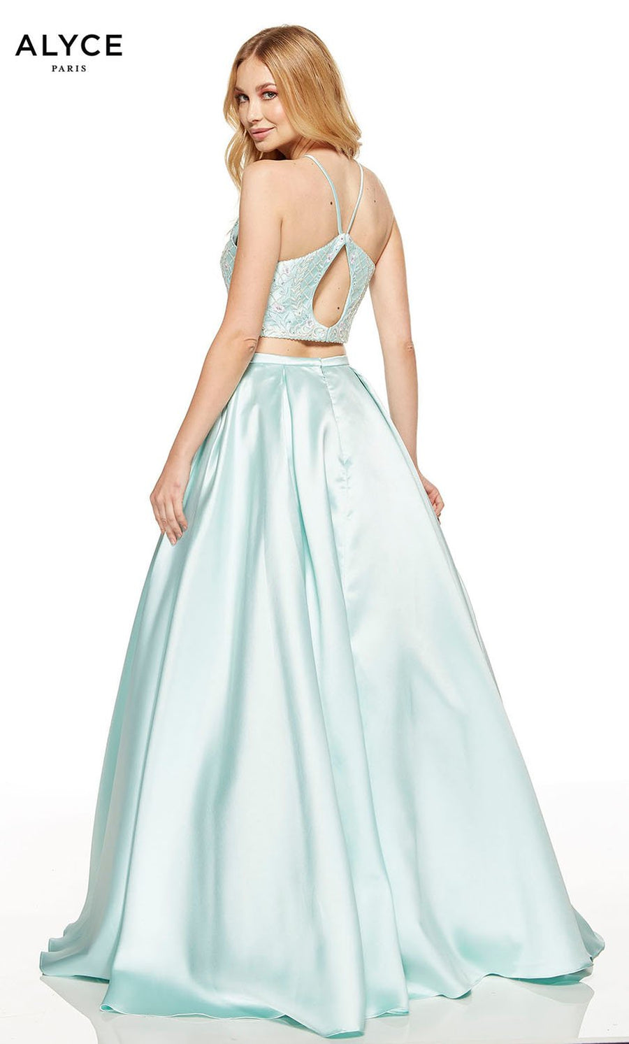 Alyce Paris 60664 prom dress images.  Alyce Paris 60664 is available in these colors: Rosewater, Sea Glass.