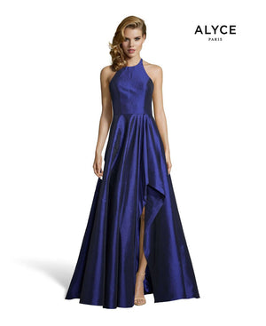 Alyce Paris 60713 prom dress images.  Alyce Paris 60713 is available in these colors: Navy, Purple, Red, Olive Green.
