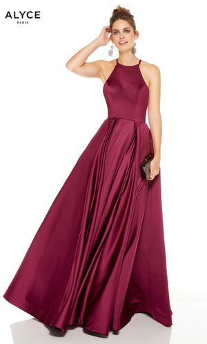 Alyce Paris 60715 prom dress images.  Alyce Paris 60715 is available in these colors: Yellow, Black Cherry.