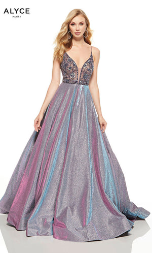 Alyce Paris 60729 prom dress images.  Alyce Paris 60729 is available in these colors: Purple.