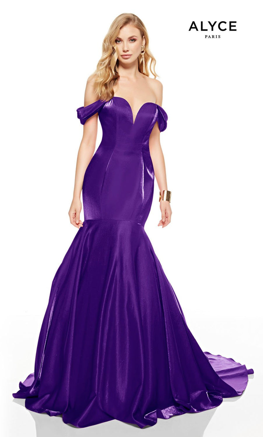 Alyce Paris 60748 prom dress images.  Alyce Paris 60748 is available in these colors: Red, Marigold, Cobalt, Black.