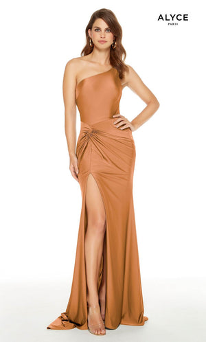 Alyce Paris 60768 prom dress images.  Alyce Paris 60768 is available in these colors: Safari Green, Honey, Hot Fuchsia.