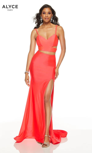 Alyce Paris 60774 prom dress images.  Alyce Paris 60774 is available in these colors: Watermelon, Midnight, Black.
