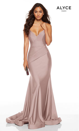 Alyce Paris 60775 prom dress images.  Alyce Paris 60775 is available in these colors: Cranberry, Cashmere Rose.
