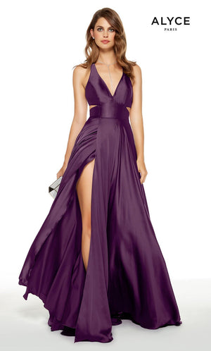 Alyce Paris 60782 prom dress images.  Alyce Paris 60782 is available in these colors: Black, Lipstick, Sapphire, Black Plum, Pine.