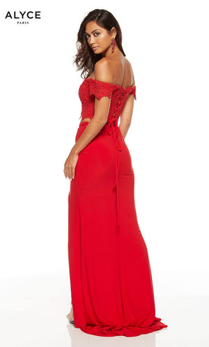 Alyce Paris 60793 prom dress images.  Alyce Paris 60793 is available in these colors: Red, Sapphire.