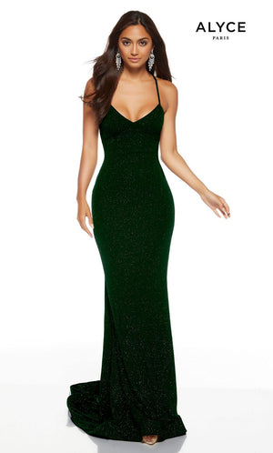 Alyce Paris 60796 prom dress images.  Alyce Paris 60796 is available in these colors: Midnight, Wine, Pine.