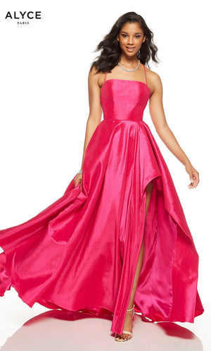 Alyce Paris 60831 prom dress images.  Alyce Paris 60831 is available in these colors: Raspberry, Unicorn  Violet .