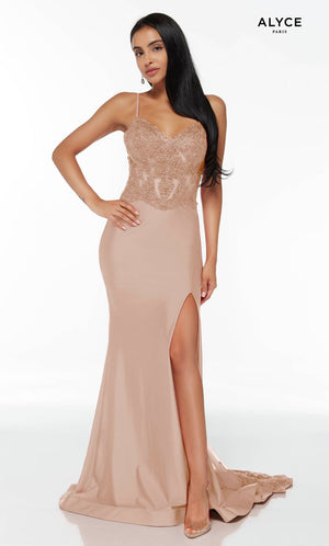 Alyce Paris 60862 prom dress images.  Alyce Paris 60862 is available in these colors: Cashmere Rose, Red, Pine.
