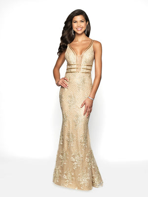 Blush Prom 11705 prom dress images.  Blush Prom 11705 is available in these colors: Gold Champagne.