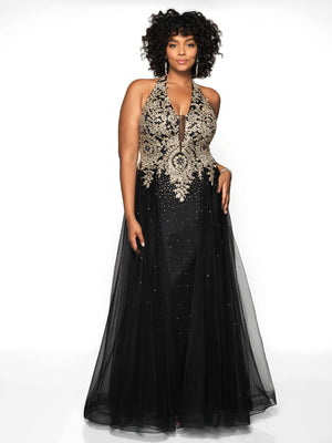Blush Prom 11706W comes in the following colors: Black Gold, Navy Gold, Off White Gold. $398 is the Formal Approach best price guarantee for style 11706W by Blush Prom.