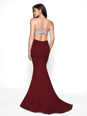 Blush Prom 11710 prom dress images.  Blush Prom 11710 is available in these colors: Navy, Sangria, Red, Teal.