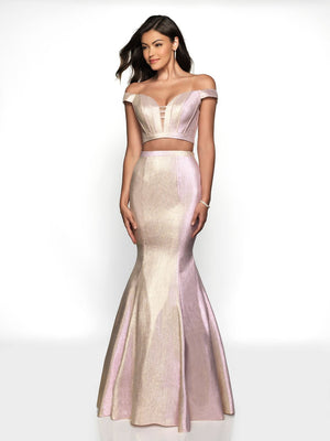 Blush Prom 11714 prom dress images.  Blush Prom 11714 is available in these colors: Pink Shimmer, Turquose Shimmer.