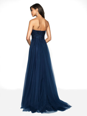 Blush Prom 11752 prom dress images.  Blush Prom 11752 is available in these colors: Navy, Sangria.