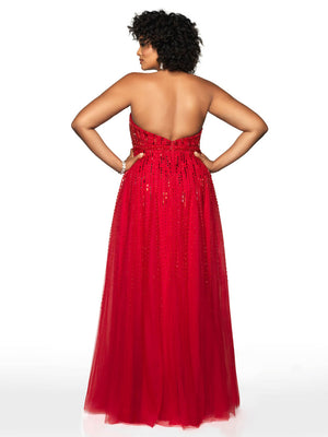 Blush Prom 11756W comes in the following colors: Crimson Red. $418 is the Formal Approach best price guarantee for style