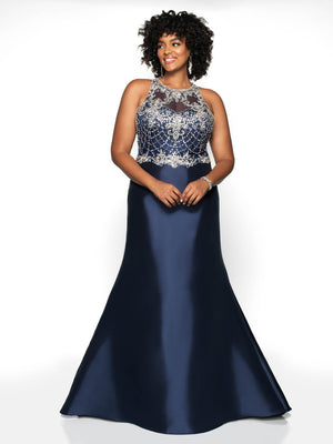 Blush Prom 11784W comes in the following colors: Black, Black Navy, Emerald, Red. $418 is the Formal Approach best price guarantee.