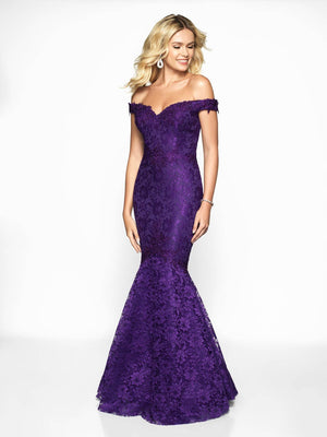 Blush Prom 425 prom dress images.  Blush Prom 425 is available in these colors: Emerald, Navy, Purple, Red, Sapphire, Wine.