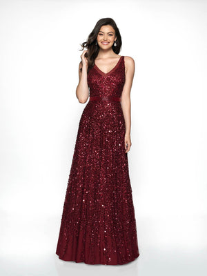 Blush Prom 504 prom dress images.  Blush Prom 504 is available in these colors: Wine.