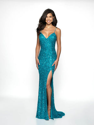 Blush Prom 507 prom dress images.  Blush Prom 507 is available in these colors: Turquoise, Red, Royal.