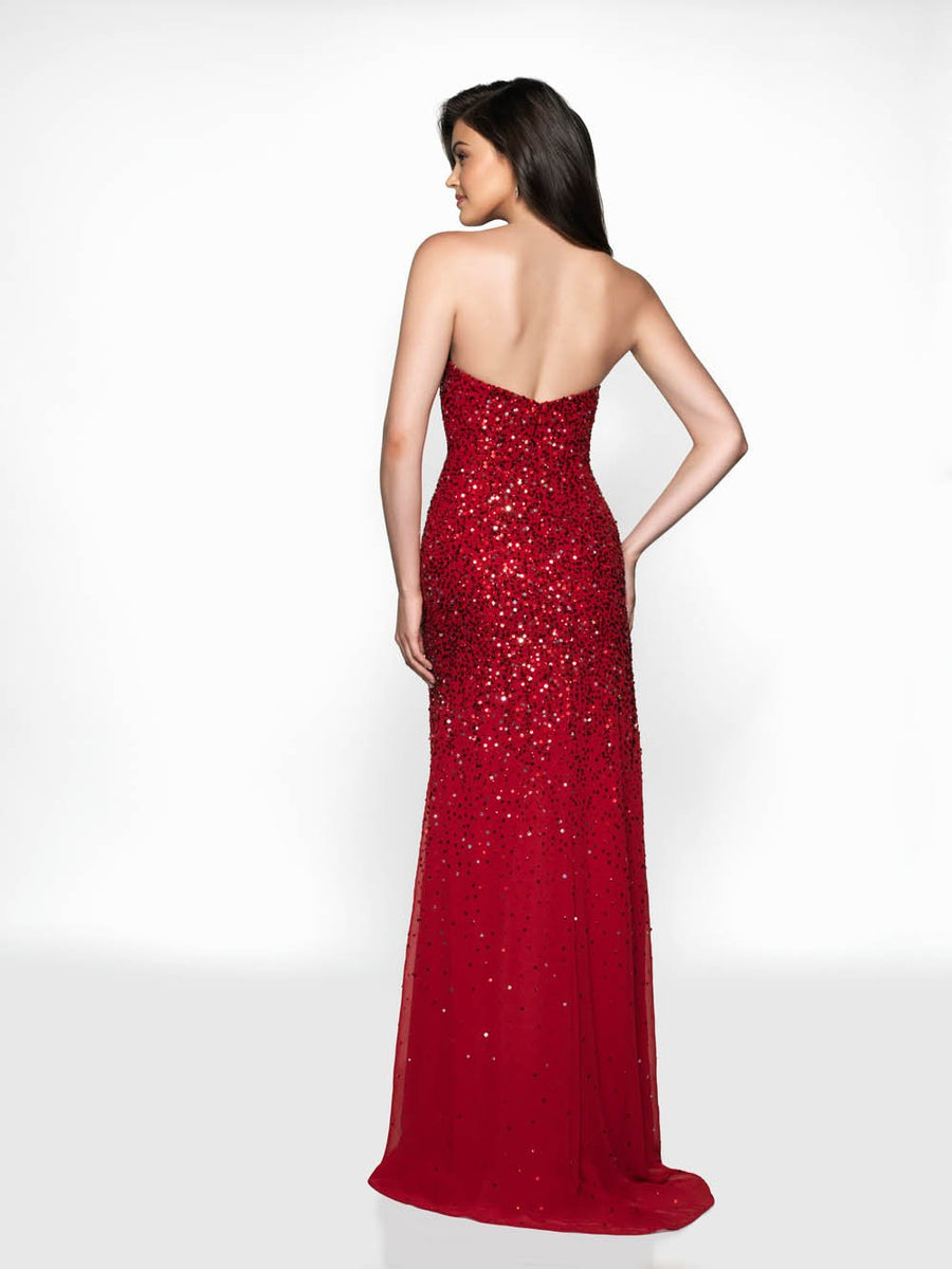 Blush Prom 512 prom dress images.  Blush Prom 512 is available in these colors: Red, Teal.