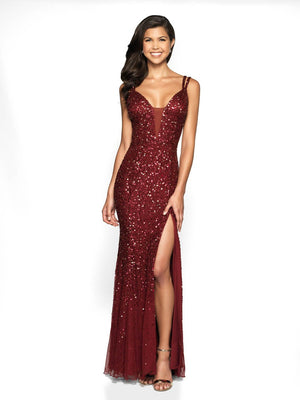 Blush Prom 515 prom dress images.  Blush Prom 515 is available in these colors: Royal, Burgundy.