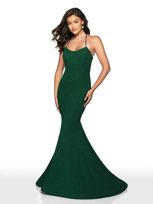 Blush Prom 518 prom dress images.  Blush Prom 518 is available in these colors: Red, Emerald.