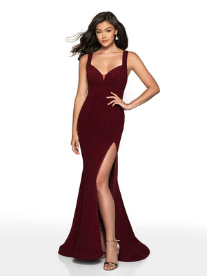 Blush Prom 521 prom dress images.  Blush Prom 521 is available in these colors: Black, Burgundy.