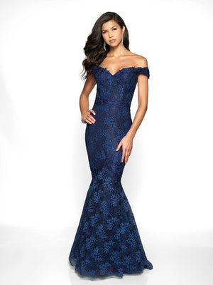Blush Prom 528 prom dress images.  Blush Prom 528 is available in these colors: Navy, Wine.