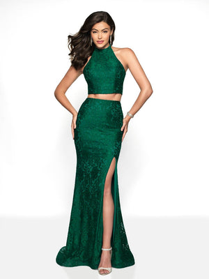 Blush Prom 546 prom dress images.  Blush Prom 546 is available in these colors: Emerald, Navy, Red.