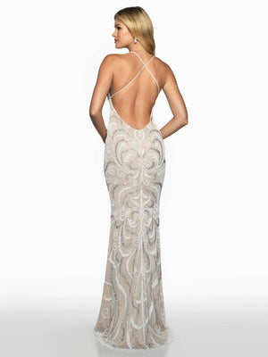 Blush Prom 549 prom dress images.  Blush Prom 549 is available in these colors: Ivory Nude, Navy Nude.