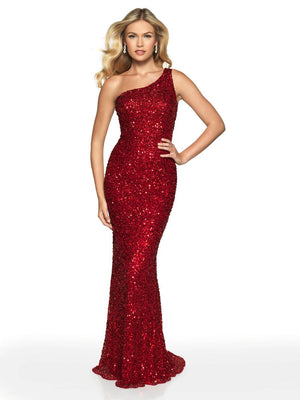Blush Prom 563 prom dress images.  Blush Prom 563 is available in these colors: Red, Grey.