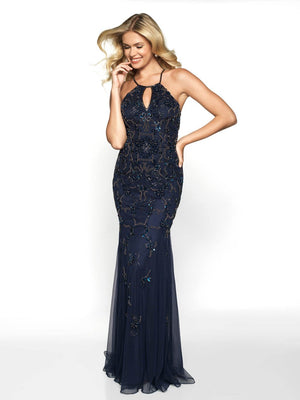 Blush Prom 566 prom dress images.  Blush Prom 566 is available in these colors: Navy, Royal.