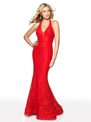 Blush Prom 569 prom dress images.  Blush Prom 569 is available in these colors: Black, Navy, Red.