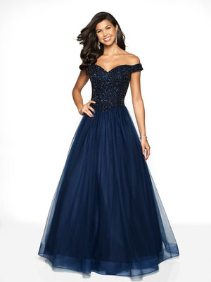 Blush Prom 5711 prom dress images.  Blush Prom 5711 is available in these colors: Navy, Sangria.