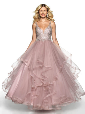 Blush Prom 5719 prom dress images.  Blush Prom 5719 is available in these colors: Mauve, Slate Blue.