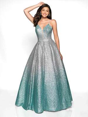 Blush Prom 5723 prom dress images.  Blush Prom 5723 is available in these colors: Silver Mint Ombre.