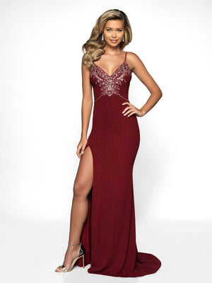 Blush Prom C2000 prom dress images.  Blush Prom C2000 is available in these colors: Wine, Midnight.
