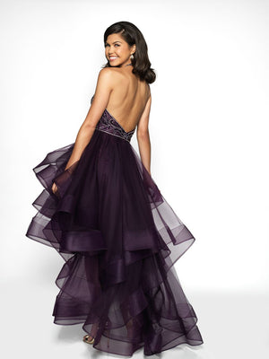 Blush Prom C2005 prom dress images.  Blush Prom C2005 is available in these colors: Eggplant, Navy, Emerald.
