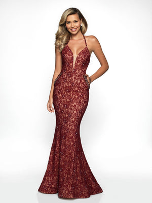 Blush Prom C2010 prom dress images.  Blush Prom C2010 is available in these colors: Navy Nude, Burgundy Nude, Black Nude.