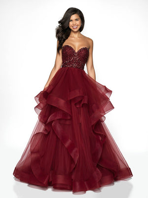 Blush Prom C2023 prom dress images.  Blush Prom C2023 is available in these colors: Teal, Wine.