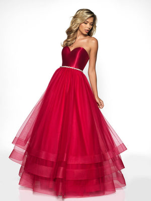Blush Prom C2036 prom dress images.  Blush Prom C2036 is available in these colors: Red, Royal.