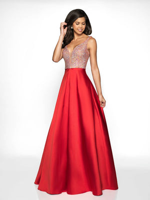 Blush Prom C2042 prom dress images.  Blush Prom C2042 is available in these colors: Cobalt, Red.