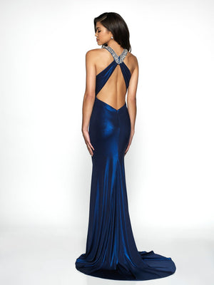 Blush Prom C2047 prom dress images.  Blush Prom C2047 is available in these colors: Midnight Teal, Navy.