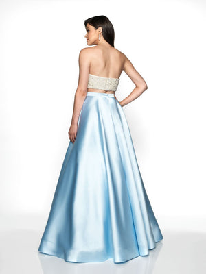 Blush Prom C2055 prom dress images.  Blush Prom C2055 is available in these colors: Blush Ivory, Sky Blue Ivory.