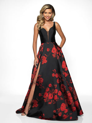 Blush Prom C2083 prom dress images.  Blush Prom C2083 is available in these colors: Red Black.