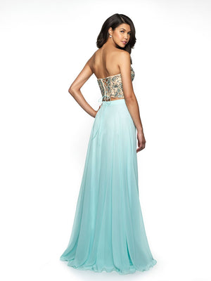 Blush Prom C2089 prom dress images.  Blush Prom C2089 is available in these colors: Navy Nude, Aqua Nude.