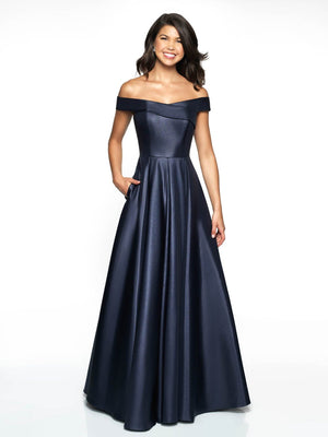 Blush Prom C2091 prom dress images.  Blush Prom C2091 is available in these colors: Red, Midnight.