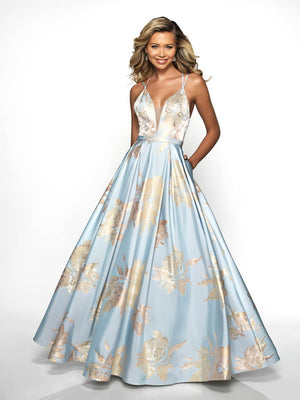 Blush Prom C2094 prom dress images.  Blush Prom C2094 is available in these colors: Dusty Blue Gold.